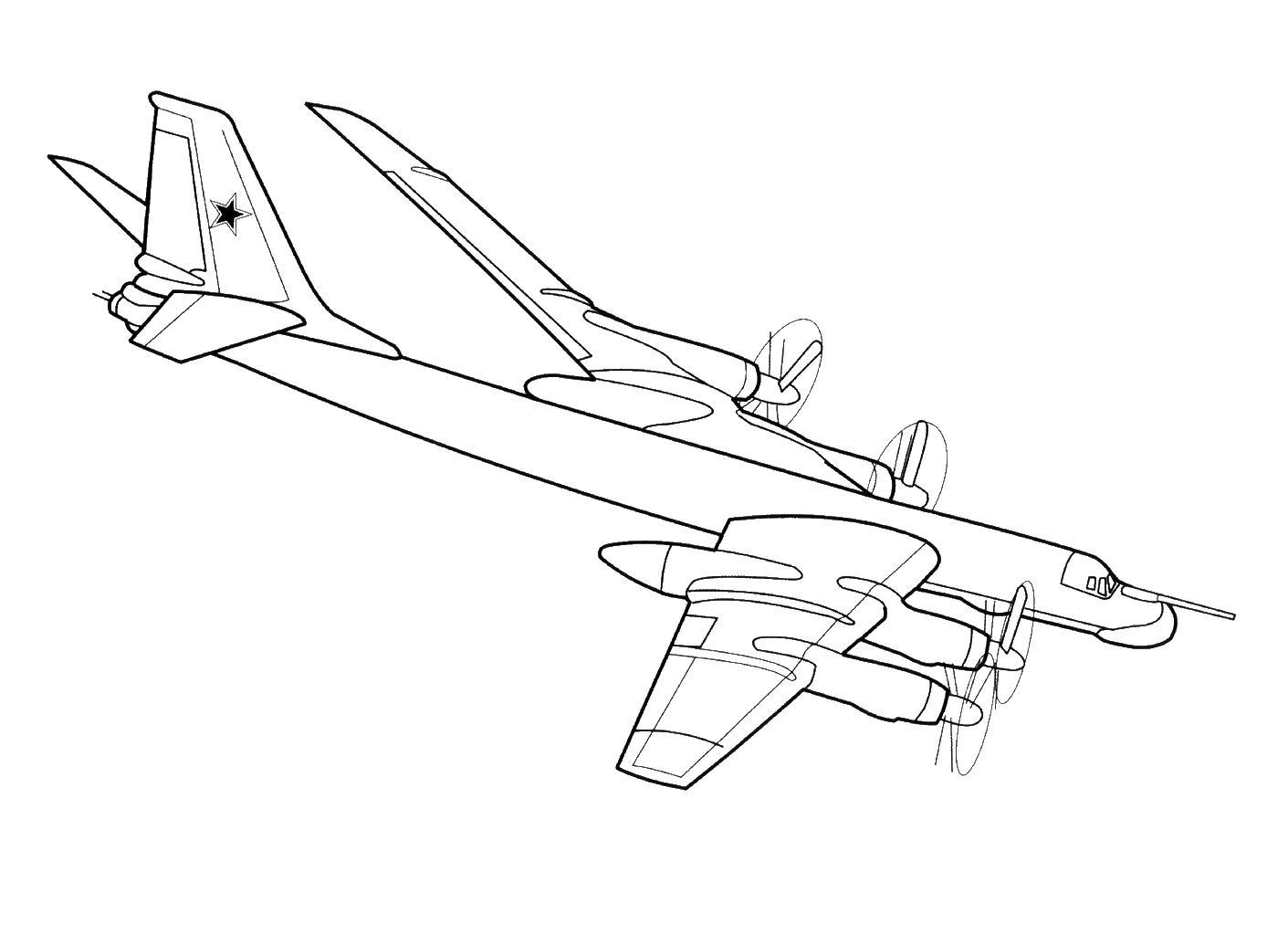 Бомбардировщик летит Раскраски для детей мальчиков