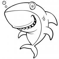 Прикольная акула Раскраски для мальчиков бесплатно