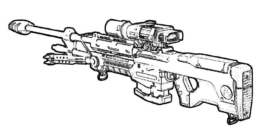 Раскраски для мальчиков оружие распечатать - 3