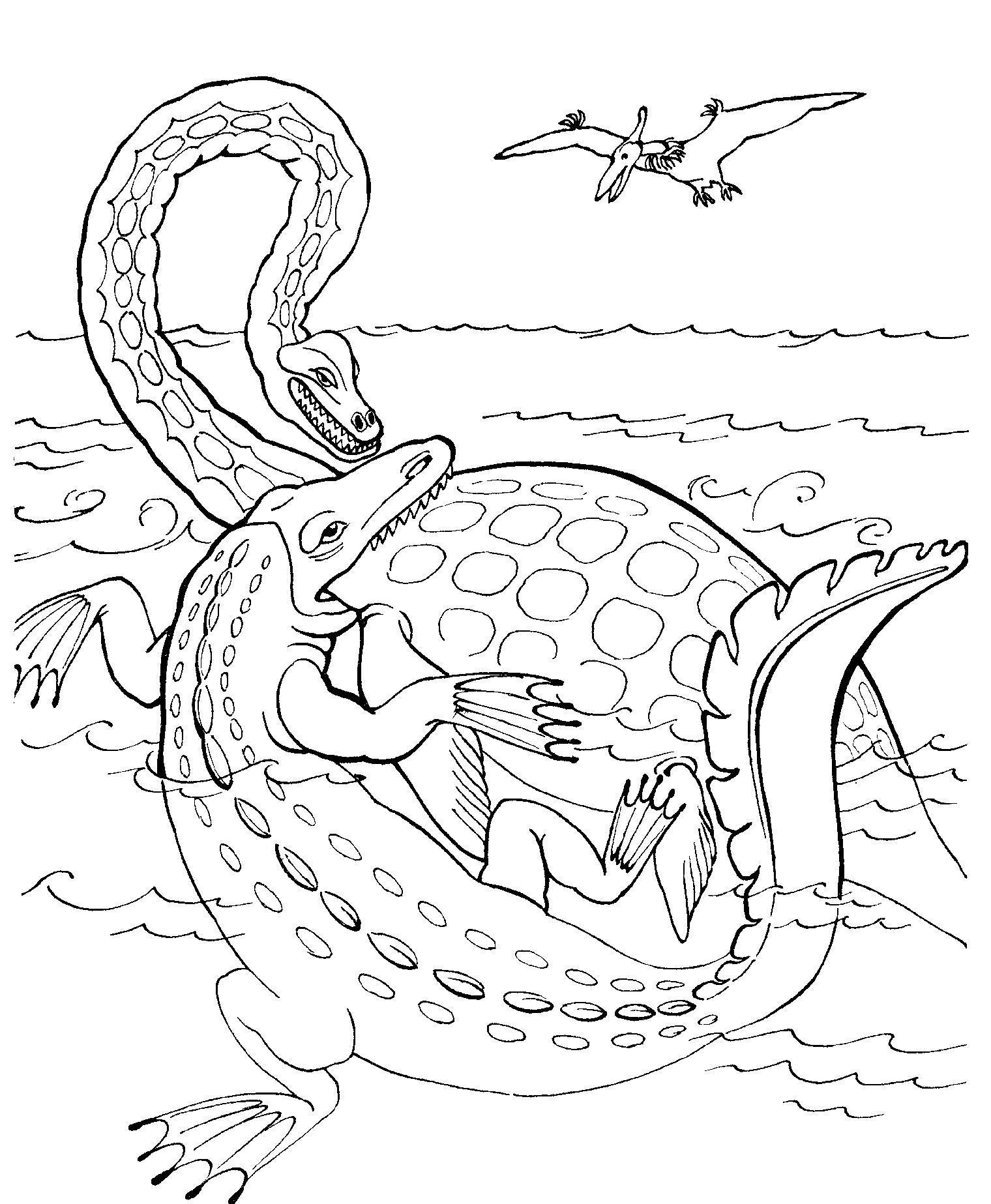Раскраска для детей онлайн динозавры
