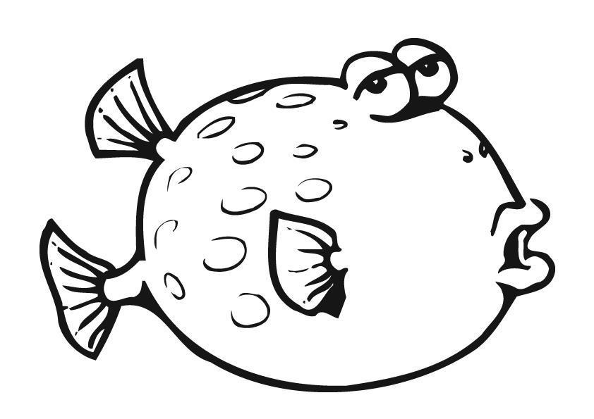 Рыба которая раздувается Распечатать раскраски для мальчиков