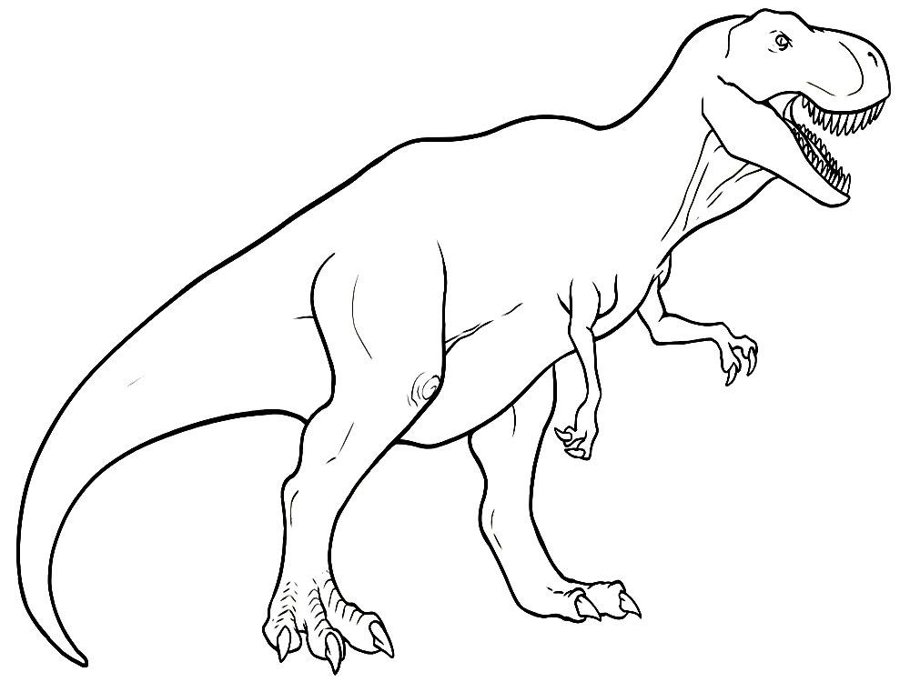 картинки динозавр раскраски