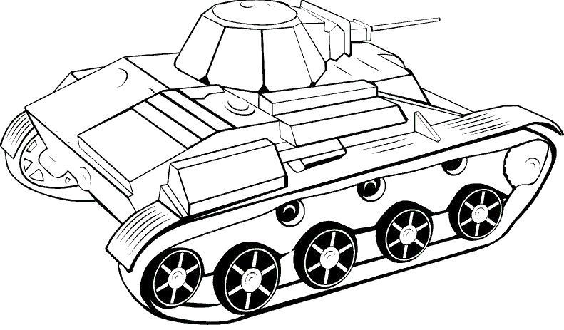 Компактный танк Раскраски для мальчиков бесплатно