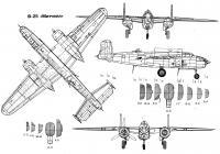 Бомбардировщик митчелл схема Раскраски для детей мальчиков