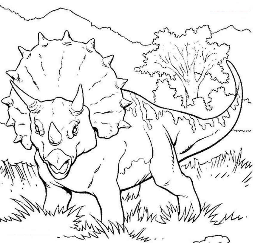 Динозавр с клювом Раскраски для мальчиков