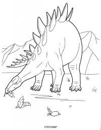 Стегозавр Раскраски для мальчиков