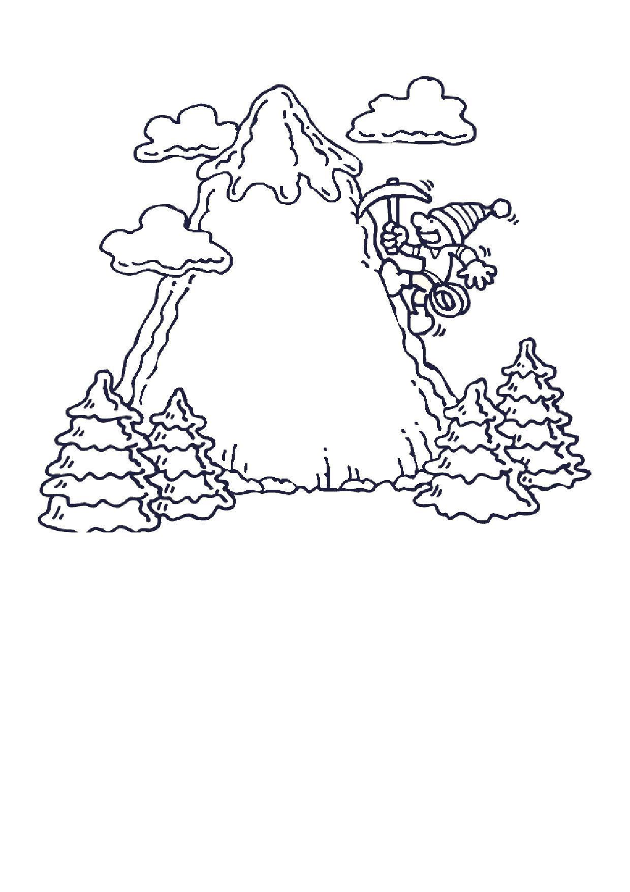 Скалолаз Раскраски для детей мальчиков
