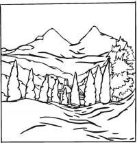 Домик в горах Раскраски для детей мальчиков