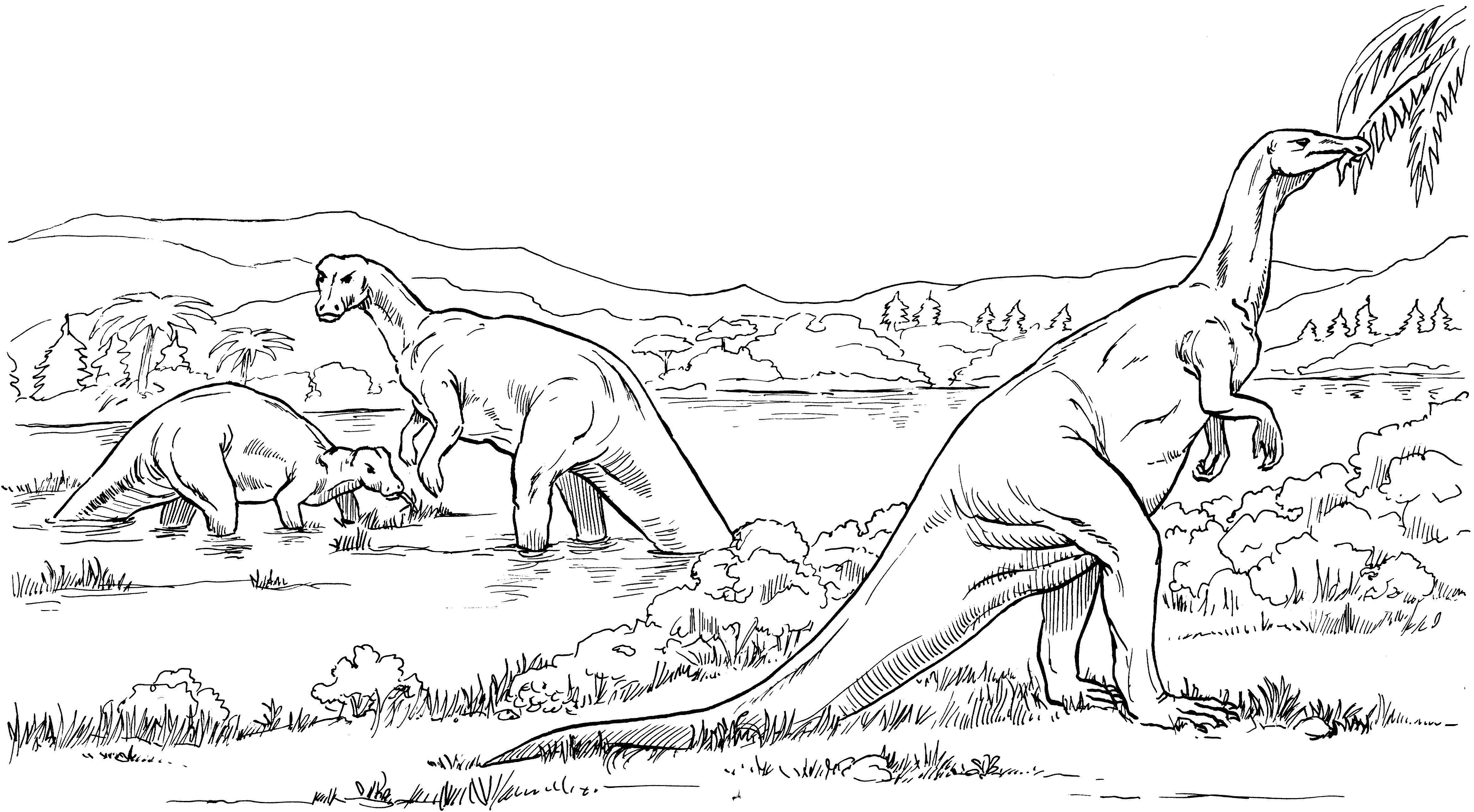 Травоядные динозавры Раскраски для мальчиков
