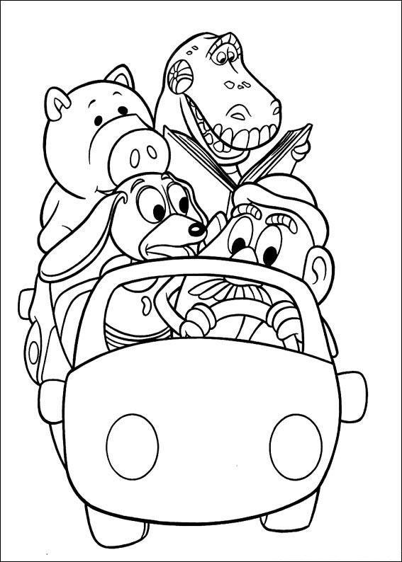 история игрушек игрушки в машине скачать раскраски для