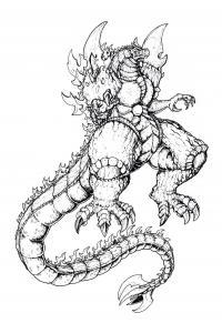 Монстр дракон Раскраски для детей мальчиков