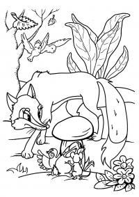 Лисичка возле гриба Раскраски для детей мальчиков