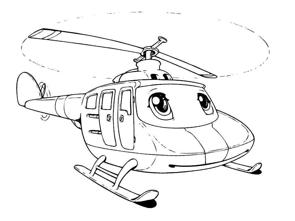 Глазастый вертолет Раскраски для мальчиков