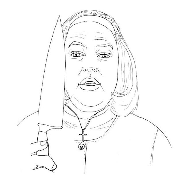 Ужасы, женщина с ножем Раскраски для мальчиков