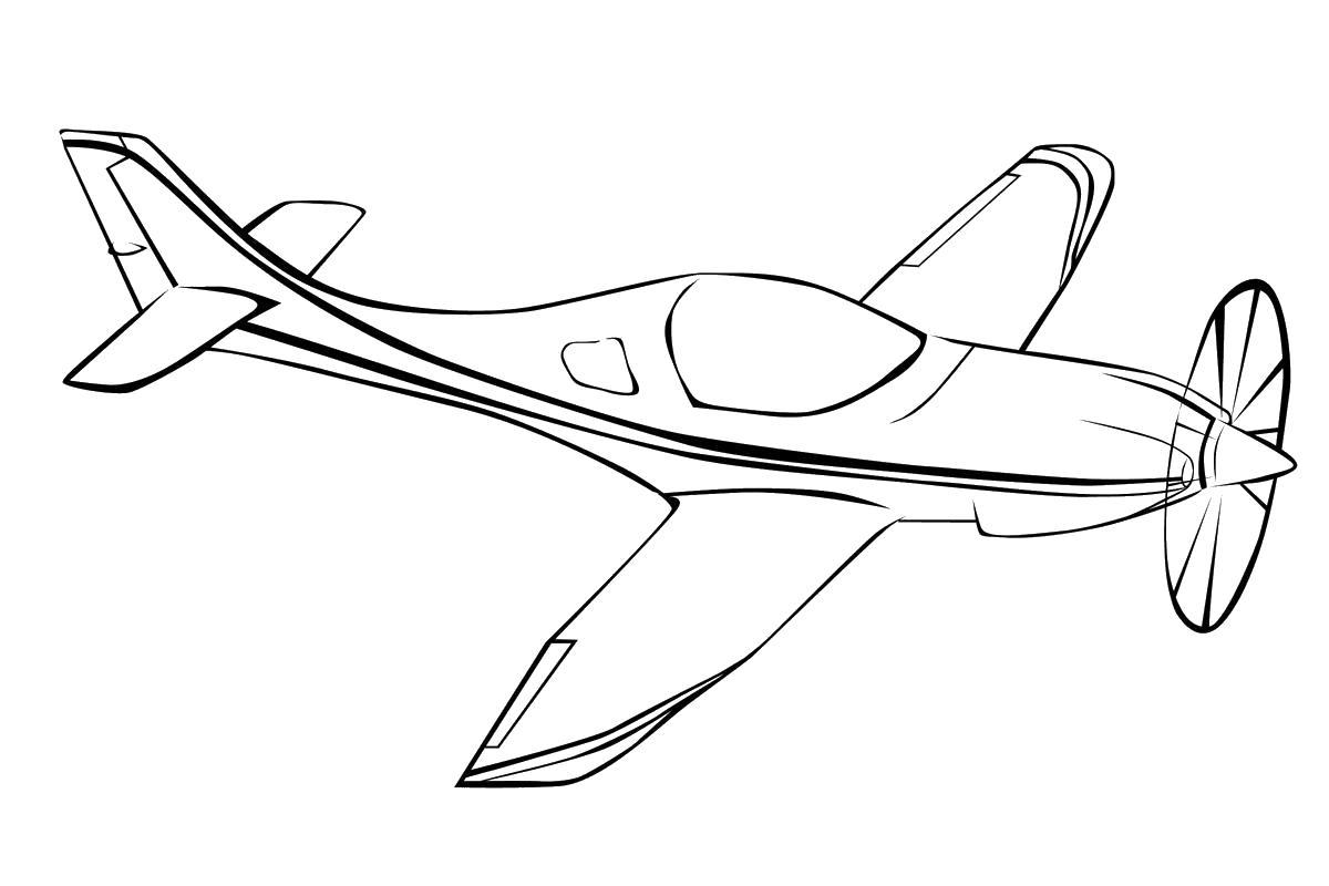 Легкий самолет Раскраски для мальчиков бесплатно