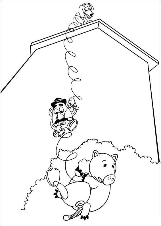История игрушек, большой побег Скачать раскраски для мальчиков