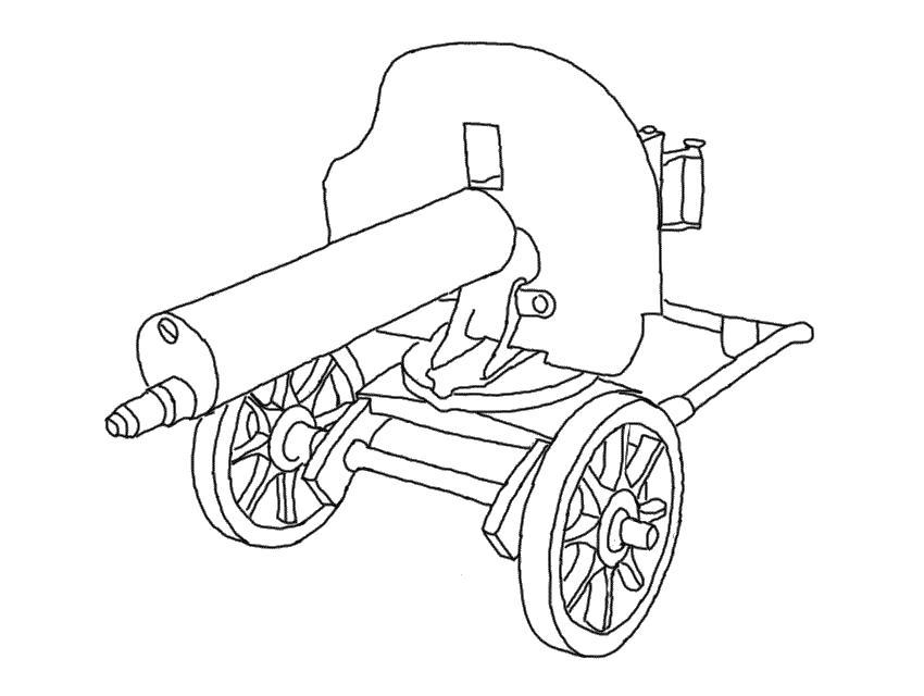 Пулемет второй мировой Раскраски для мальчиков