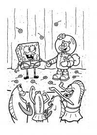 Спанч боб и компания Распечатать раскраски для мальчиков