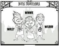 Отель трансильвания Раскраски для мальчиков