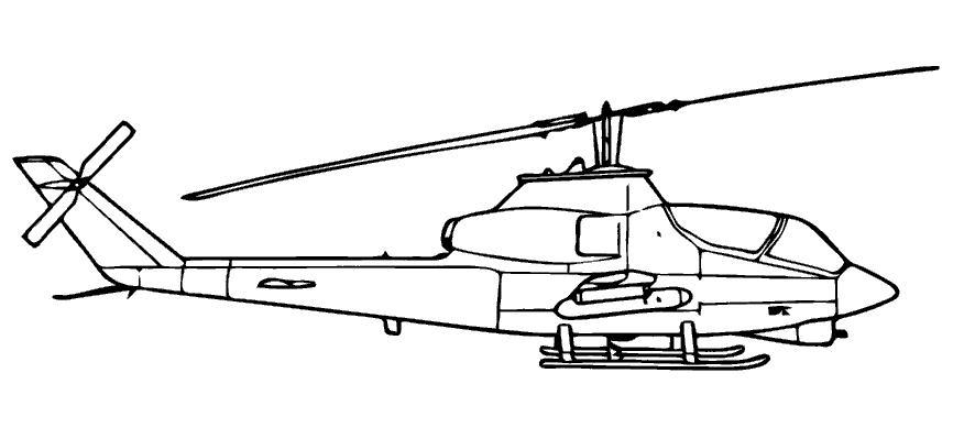 Вертолет-хищник Раскраски для мальчиков