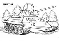 Танк т-34 ссср Раскраски для мальчиков