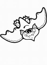 Летучая мышь с глазами в кучу Раскраски для мальчиков