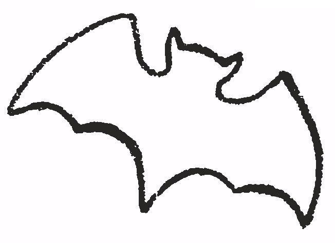 Летучая мышка, трафарет Раскраски для мальчиков