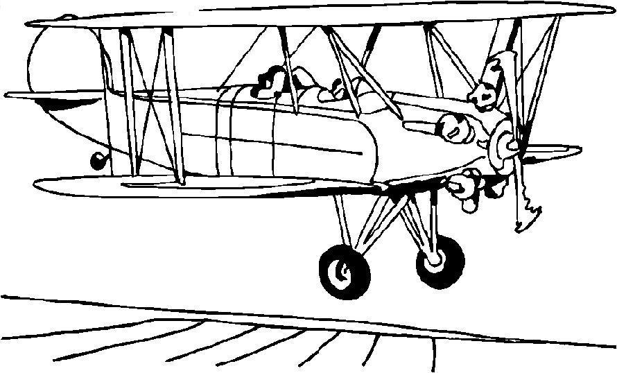 Первые самолеты Раскраски для мальчиков бесплатно