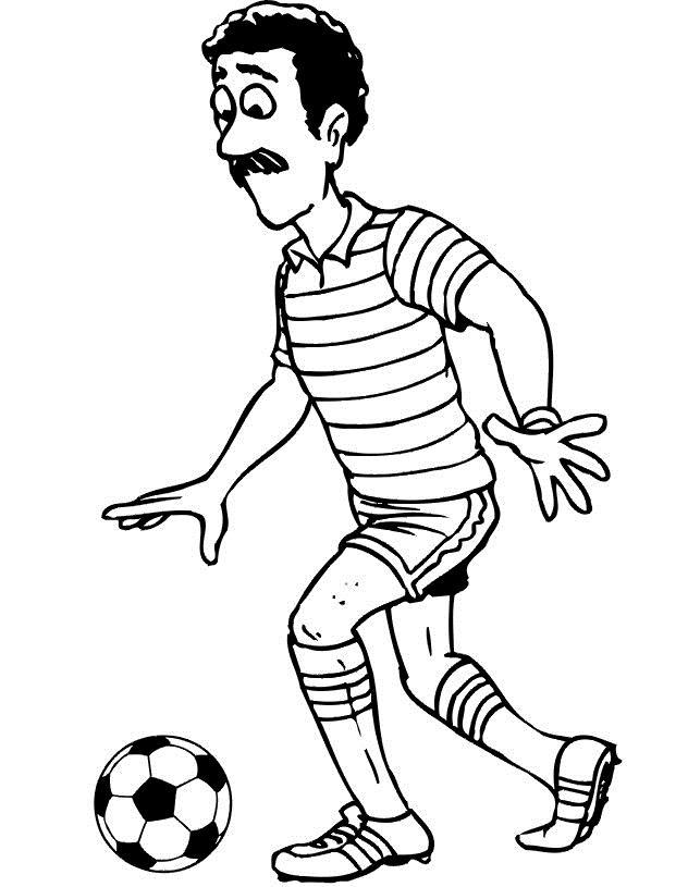 Усатый футболист Раскрашивать раскраски для мальчиков
