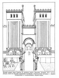 Древние люди, летний дворец царя саргона, хорсабад, ассирия Раскраски для детей мальчиков