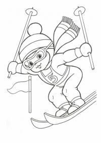 Лыжник Раскрашивать раскраски для мальчиков