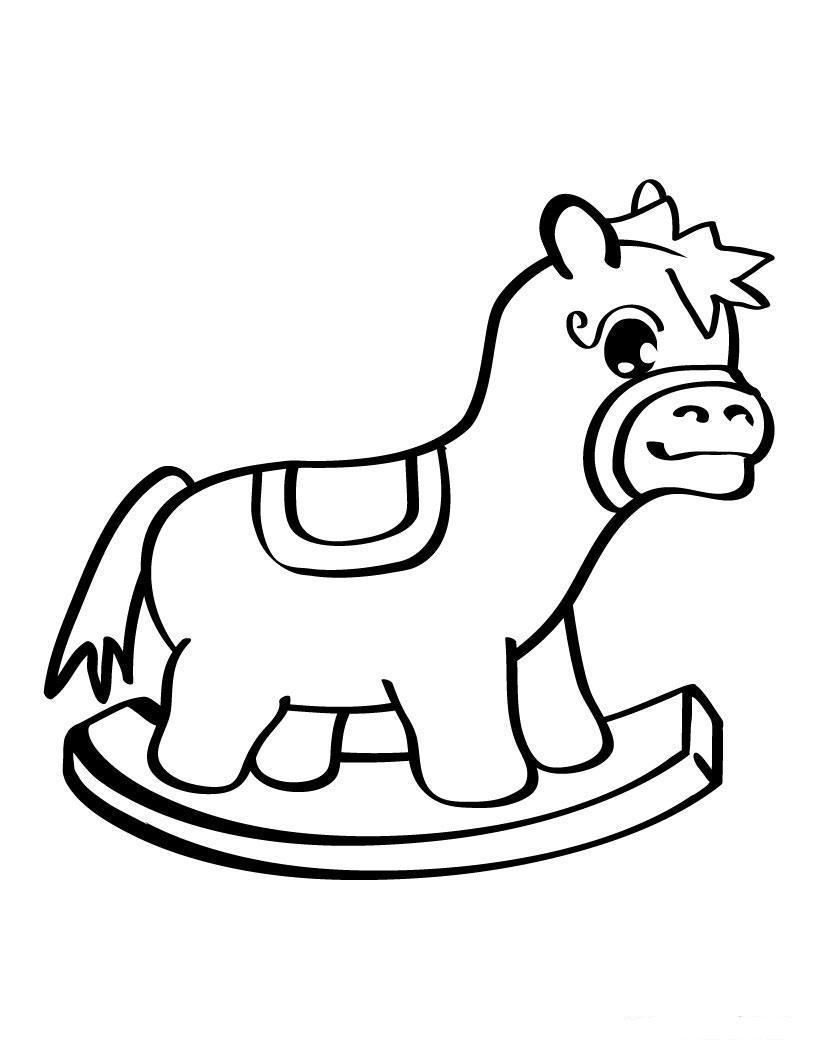 игрушка лошадка раскраски для мальчиков бесплатно