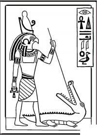 Рисунки внутри пирамид, боги египта Раскраски для мальчиков бесплатно