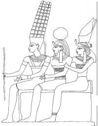 Семья фараона Раскраски для мальчиков бесплатно