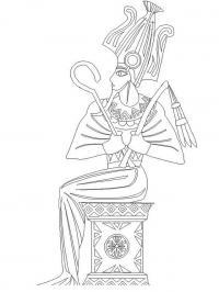 Фараон Раскраски для мальчиков бесплатно