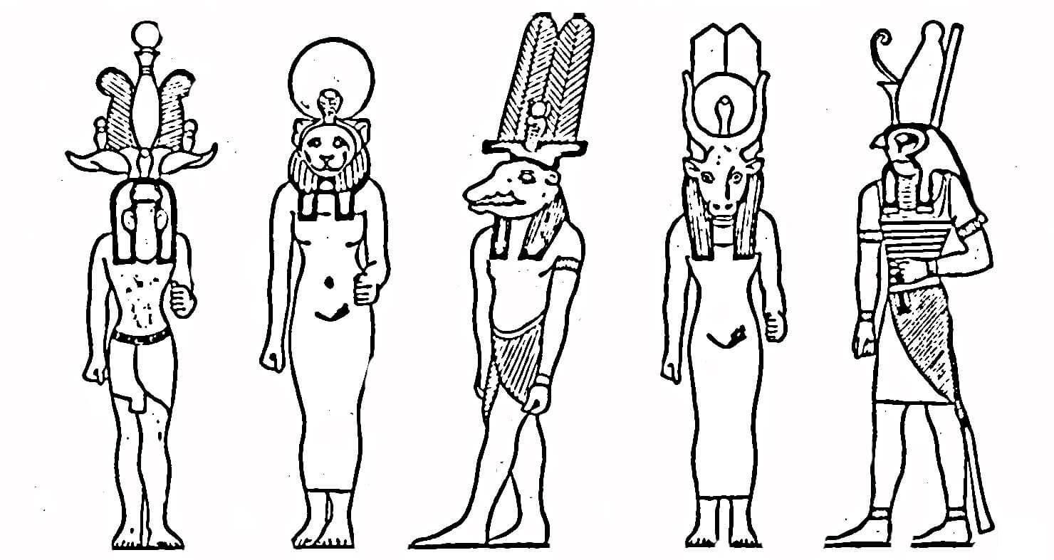 Египетские боги Раскраски для мальчиков бесплатно