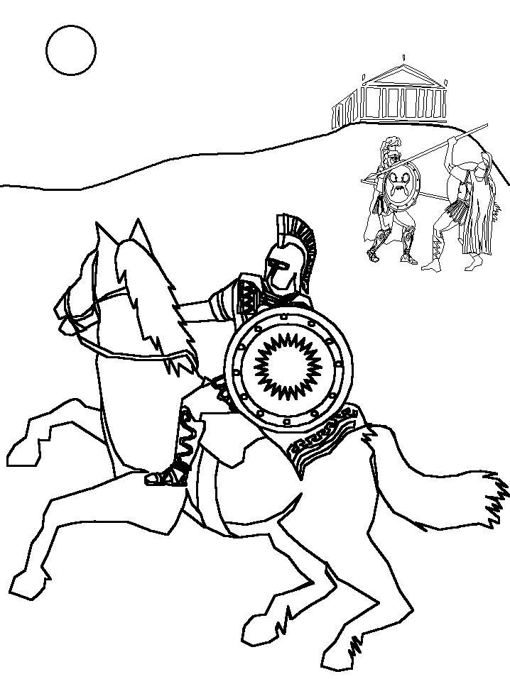 Рим сражение Раскраски для мальчиков