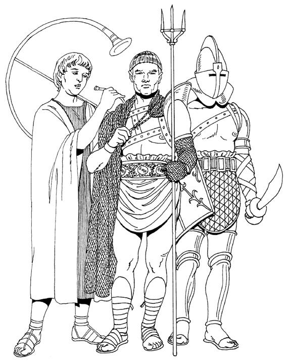 Римляне Раскраски для мальчиков