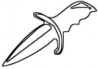 Маленький нож Раскраски для мальчиков