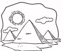 Пирамиды в египте и палящее солнце Раскраски для мальчиков бесплатно