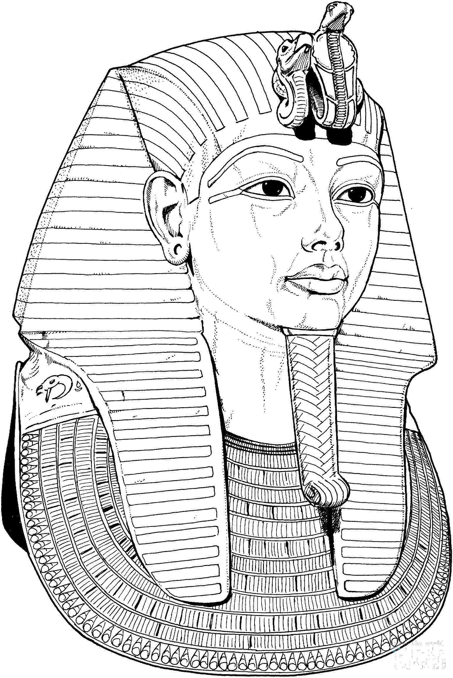 Египетский сфинкс Раскраски для мальчиков бесплатно