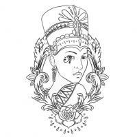 Египет, женщина, роза Раскраски для мальчиков бесплатно