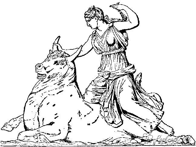 Рим, победа над быком Раскраски для мальчиков