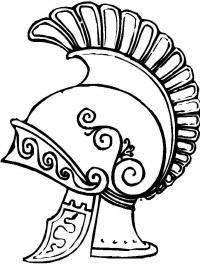 Шлем римского легионера, шлем воина Раскраски для мальчиков