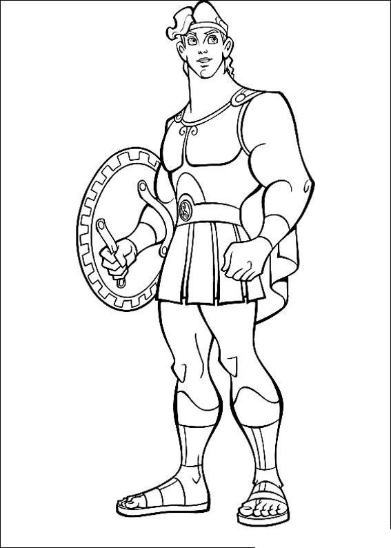 Грек с щитом Раскраски для мальчиков