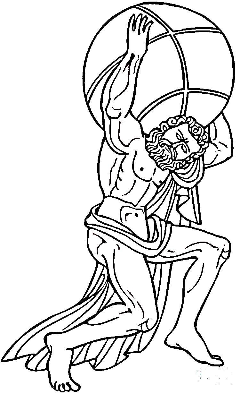Атлеты древней греции Раскраски для мальчиков