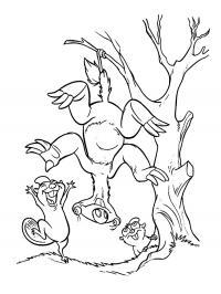 Ленивец сид Раскраски для мальчиков бесплатно