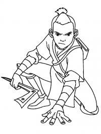 Персонаж мультфильма аватар Раскраски для мальчиков бесплатно