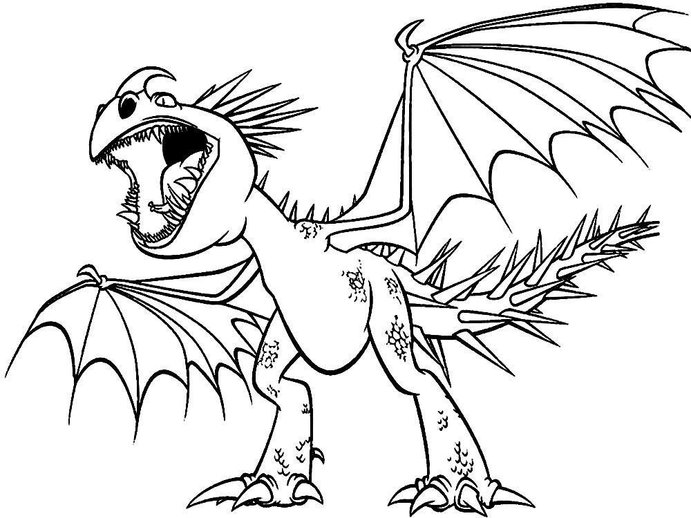 Разукрашки с дракончиками