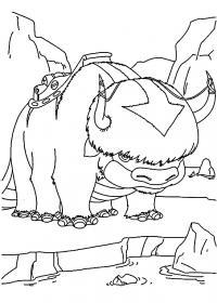 Аппа, аватар легенда о аанге Раскраски для детей мальчиков